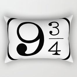 Platform 9 3/4 Nine And Three Quarters Rectangular Pillow