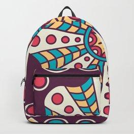 Purple Fun Mosaic Boho Pattern Backpack