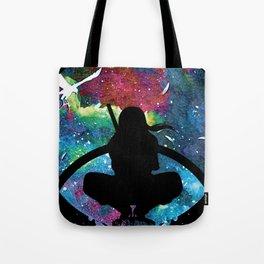 Grungy Ninja Silhouette Tote Bag