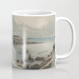 Vintage Pictorial Map of Havana Cuba (1851) Coffee Mug