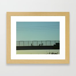 Hello Up There  Framed Art Print