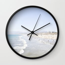 Santa Monica Beach Wall Clock
