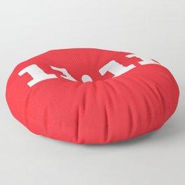 11:11 Red Floor Pillow