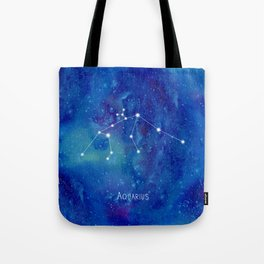 Constellation Aquarius Tote Bag