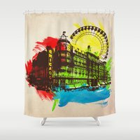 chicago Shower Curtains featuring Chicago by Badamg