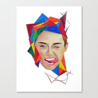 miley Canvas Prints featuring Miley by Mike Lampkin
