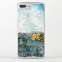 Lapis - Contemporary Abstract Textured Floral Clear iPhone Case
