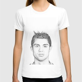 Cristiano Ronaldo pencil portrait T-shirt