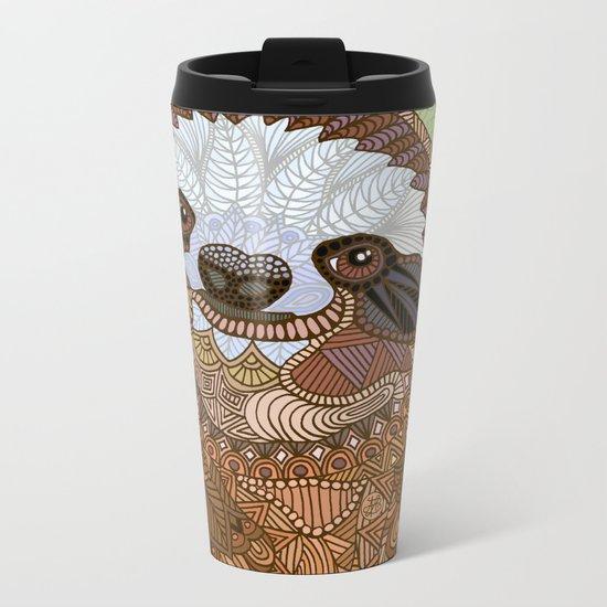 Smiling Sloth Metal Travel Mug