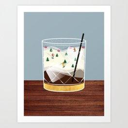 Cocktail Landscape White Russian Art Print