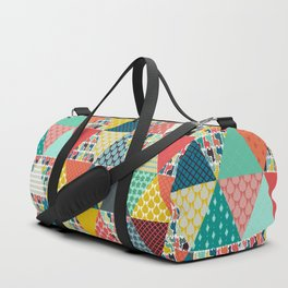 llama geo triangles Duffle Bag