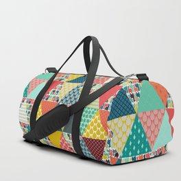 llama geo triangles Duffle Bag
