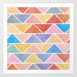 Colorful Triangle IV(Ranging Tribuj Char) Art Print