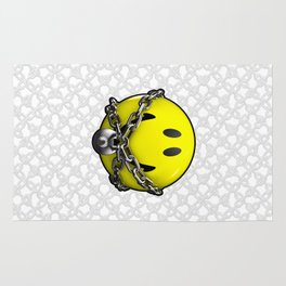Quit Your Grinning / 3D chained up smiley Rug