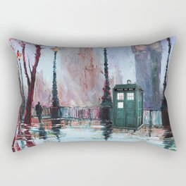 dr who art painting Rectangular Pillow