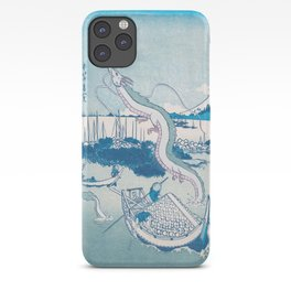 Haku the dragon japanese vintage woodblock mashup iPhone Case