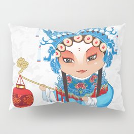 Beijing Opera Character GongNv Pillow Sham