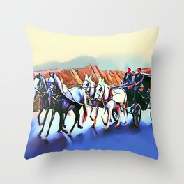 Horse Drawn Carriage Throw Pillow