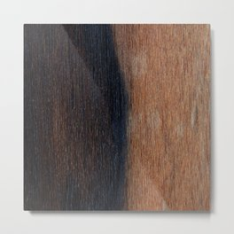 Walnut veneer brown design of wood Metal Print