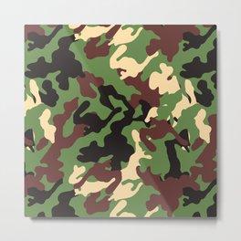Camouflage Design Metal Print