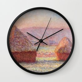 White Frost, Sunrise by Claude Monet Wall Clock