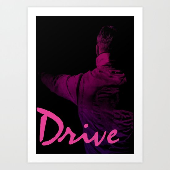 Ryan Gosling in Drive Art Print