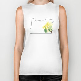 or // oregon grape watercolor state flower map Biker Tank