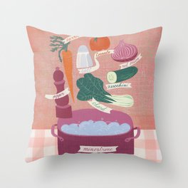 minestrone time Throw Pillow