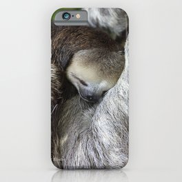 Sleepy 3-toed sloth iPhone Case