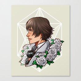 Lady | White Rose | DMC5 Canvas Print