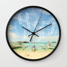 Oh Sunny Days Wall Clock
