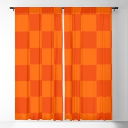 Orange Chex 2 Blackout Curtain