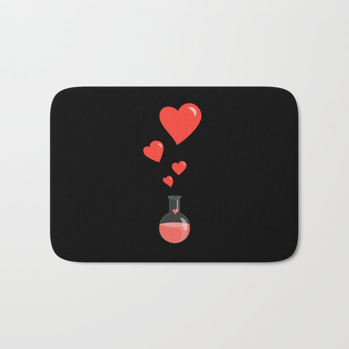 Love Chemistry Flask of Hearts Bath Mat
