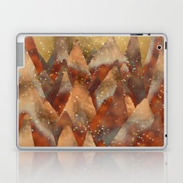 Abstract Copper Christmas Winter Mountain Dreamscape Laptop & iPad Skin