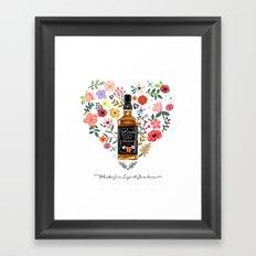 Whiskey Is Liquid Sunshine Framed Art Print