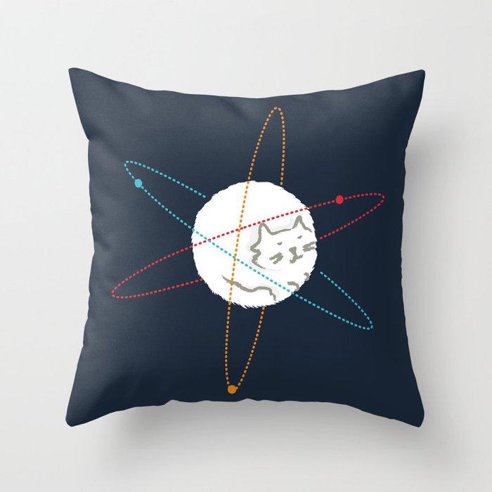 Cat-ion Throw Pillow