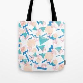 90's Pastel Geometric Pattern Tote Bag