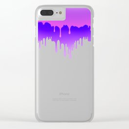 Dripping Paint Design for artsy Clear iPhone Case