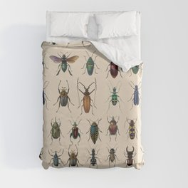 Insects, flies, ants, bugs Duvet Cover