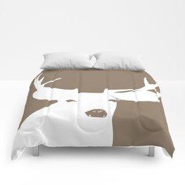 Deer Head in Brown Comforters
