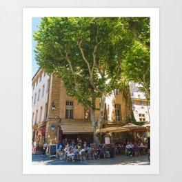 Summer in Aix-en-Provence I Art Print