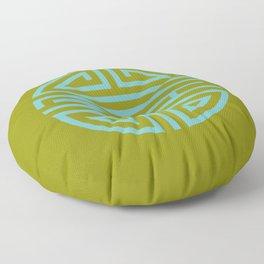Shou Longevity In Green And Turquoise Floor Pillow