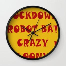 Bat Crazy Wall Clock