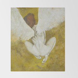 The Gold  Angel Throw Blanket