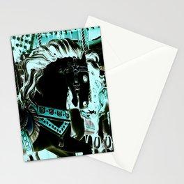 Carousel Horse Turquoise Aqua Stationery Cards