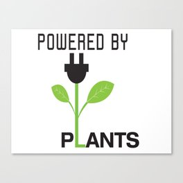 Powered by Plants Vegan Art Canvas Print
