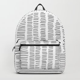 Digital Stitches detail 1 white Backpack