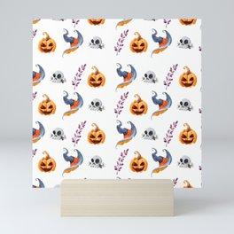 Halloween Witchy Pattern 2 Mini Art Print
