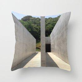 Lee Ufan Museum, Naoshima Island - Ellie Wen Throw Pillow