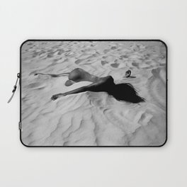 'All of Me' reclining nude brunette female form black and white photograph / art photography  Laptop Sleeve